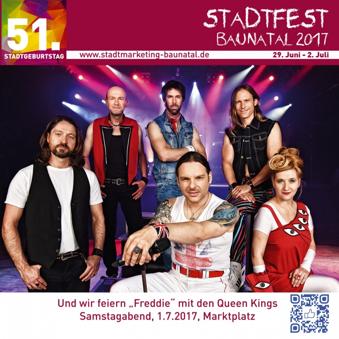 Stadtfest Baunatal, Queen Kings, stadtmarketing baunatal